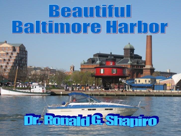 Dr. Ronald G. Shapiro  November 28, 2008 Beautiful Baltimore Harbor Dr. Ronald G. Shapiro