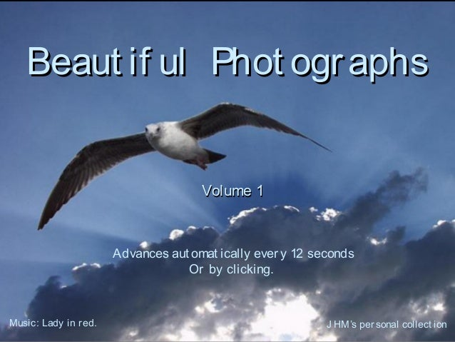 Beaut if ul Phot ographsBeaut if ul Phot ographsVolume 1Volume 1Advances aut omat ically every 12 secondsOr by clicking.Mu...