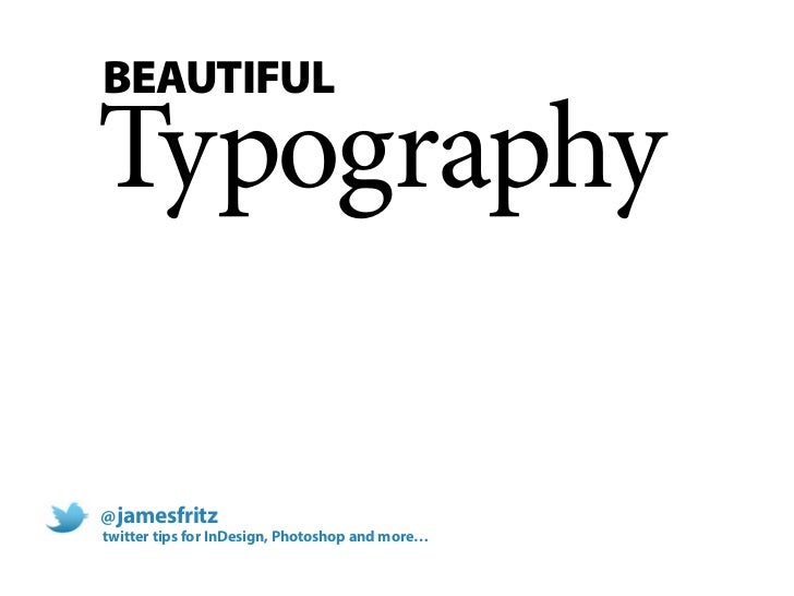 Beautiful Typography with Adobe InDesign