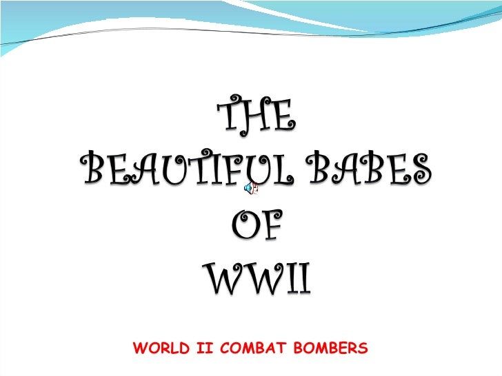 WORLD II COMBAT BOMBERS