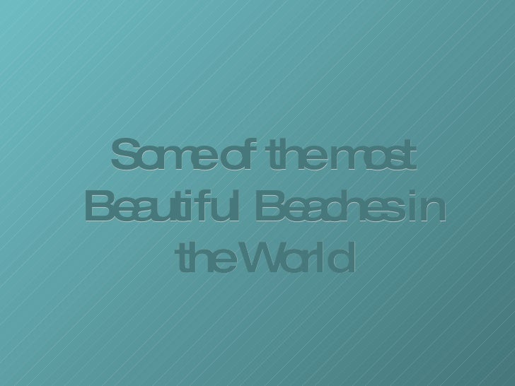 Beautifulbeaches