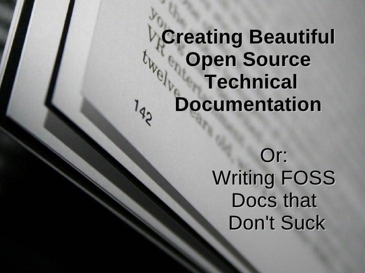 Writing Beautiful Technical Documentation