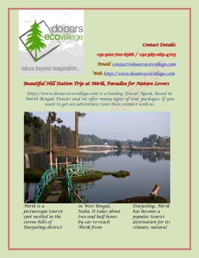 Beautiful hill station trip at mirik, paradise for nature lovers