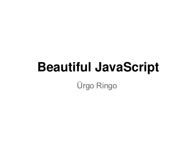 Beautiful java script