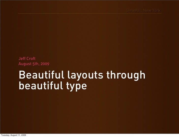 Beautiful Layouts Through Beautiful Type