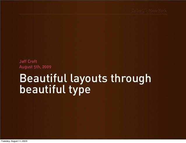 Beautiful Layouts Through Beautiful Type