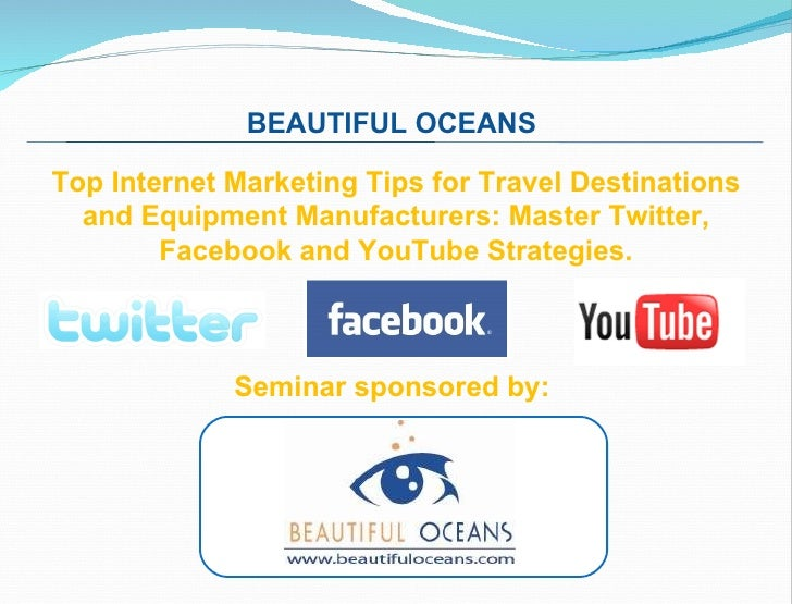Beautiful Oceans Social Media How To Get Started With Facebook You Tube Twitter