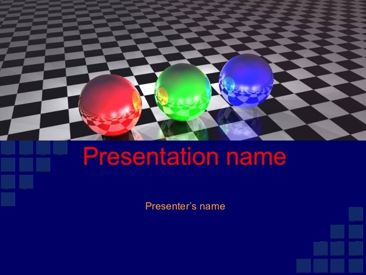 Presentation name Presenter's name