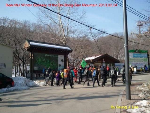 Beautiful winter scenery of the Do-Bong-San mountain