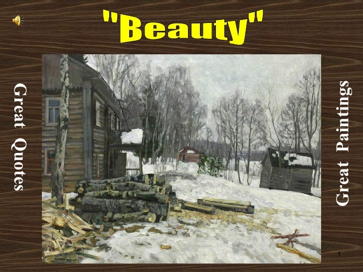 """""""Beauty""""...Great Quotes, Great Paintings"""