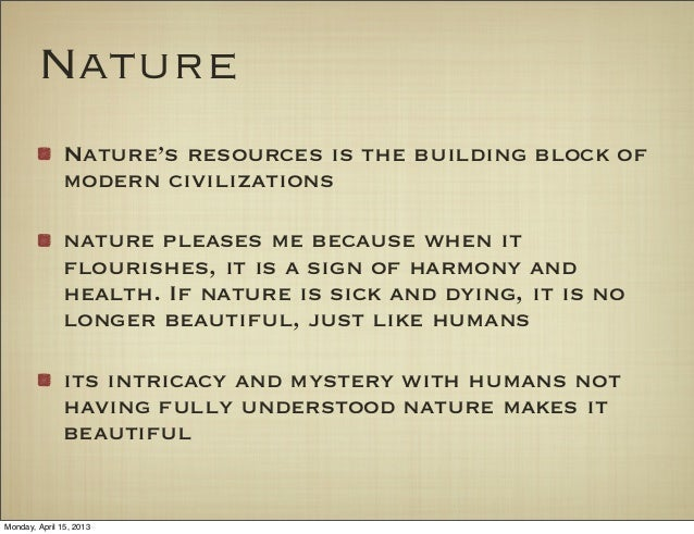 Importance Of Nature Essay