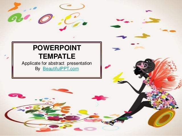 POWERPOINT      TEMPATLEApplicate for abstract presentation      By BeautifulPPT.com