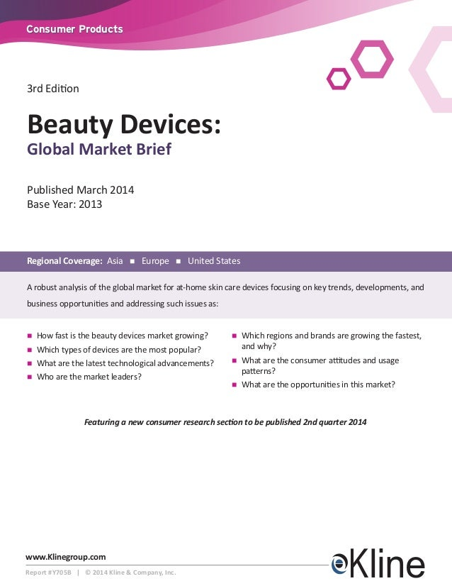 NEW! Beauty Devices: Global Market Brief