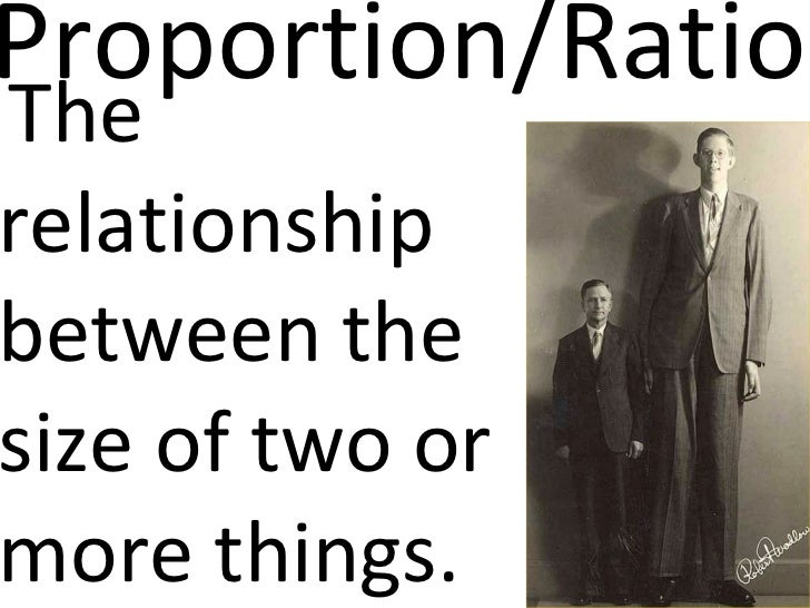 Proportion/Ratio <ul><li>The relationship between the size of two or more things. </li></ul>