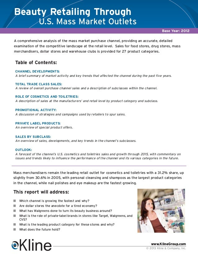 Beauty Retailing U.S. Mass Outlets Brochure