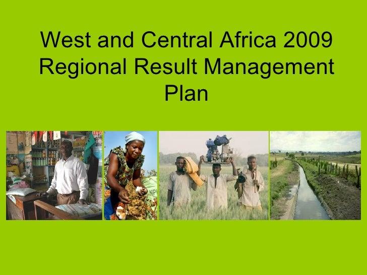 WCA Regional Result Management Plan
