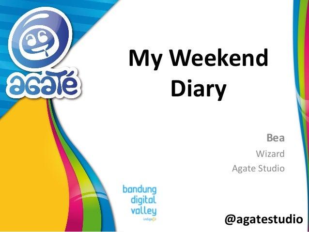@agatestudio My Weekend Diary Bea Wizard Agate Studio