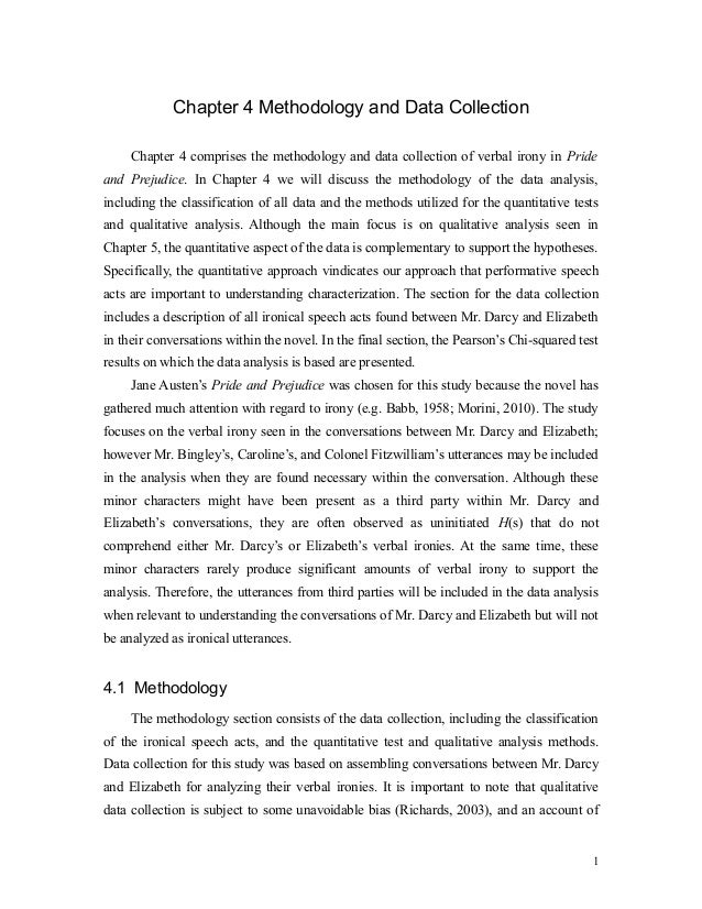 chapter 4 and 5 of dissertation A quantitative analysis of the data follows in chapter 5 in the  when the themes were described and supported by quotations in the final written thesis i then .