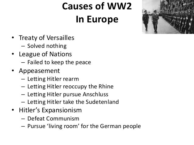 ww2 essay outline Causes of world war one essay outline thesis: there were many causes of world war one argument: militarism was a cause of world war one evidence: - the naval arms.