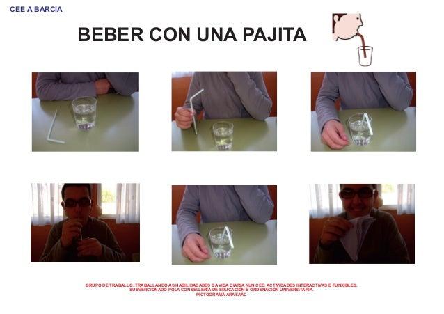 Beber con una pajita