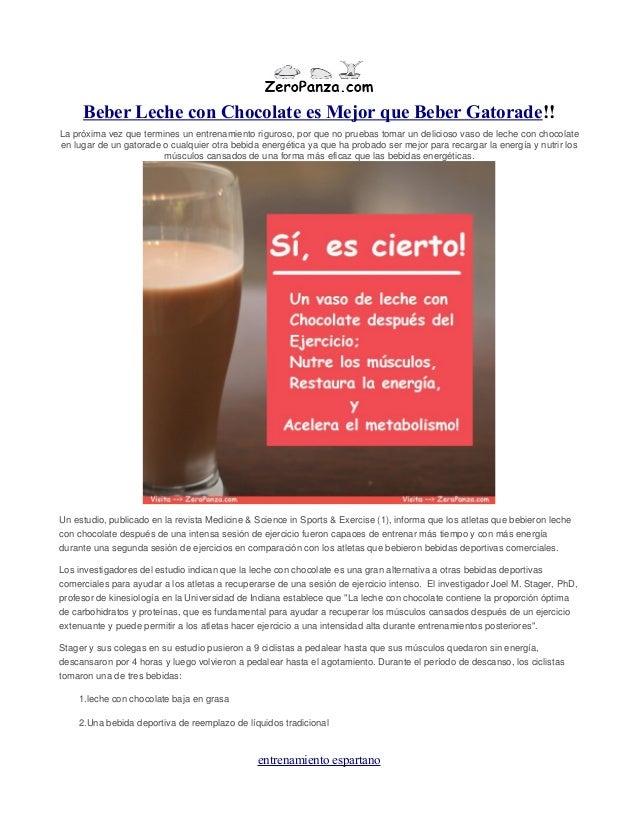 Beber Leche con Chocolate es Mejor que Beber Gatorade!! La próxima vez que termines un entrenamiento riguroso, por que no ...