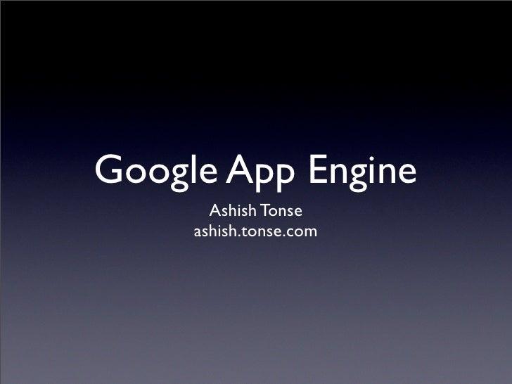 Google App Engine BeCamp 2008