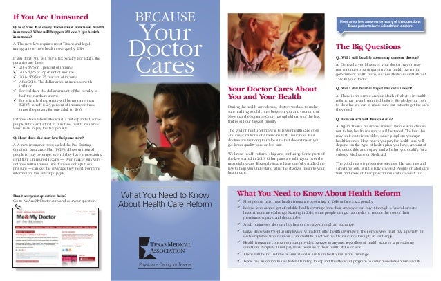 Because your doctor cares - the health reform law explained