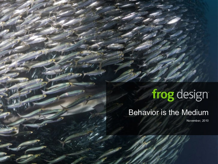 Behavior is the Medium November, 2010