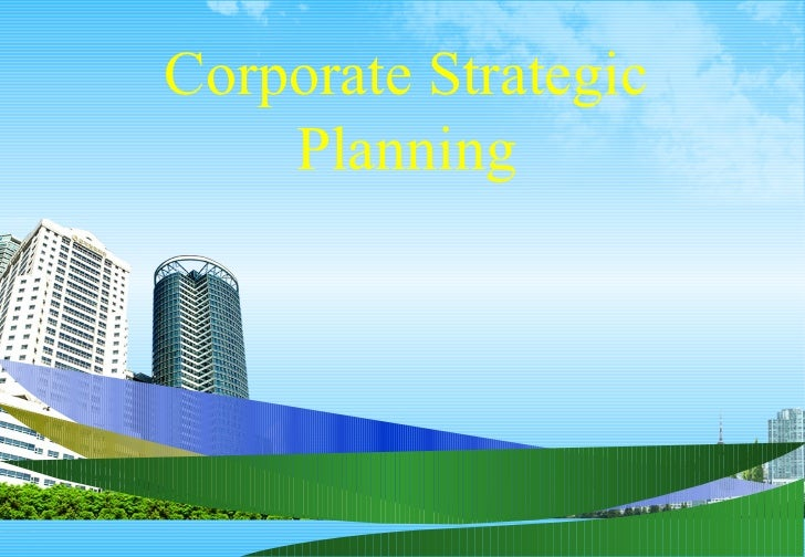 Bec doms ppt on corporate strategic planning