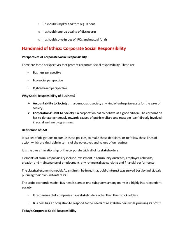ethics and social responsibilities essay Assignment steps write a 700-word report in which you address the following: define and explain the role of ethics and social responsibility a custom essay, research paper, term paper.