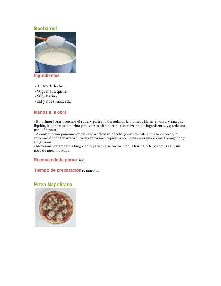 Bechamel left0 Ingredientes- 1 litro de leche- 90gr mantequilla- 90gr harina- sal y nuez moscadaManos a la obra- En prime...