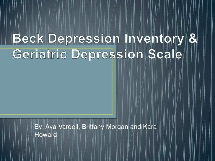 beck depression inventory ii pdf