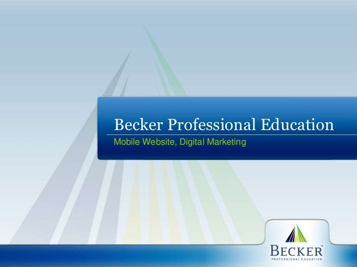 Mobile Website and Digital Marketing for Becker Professional Education