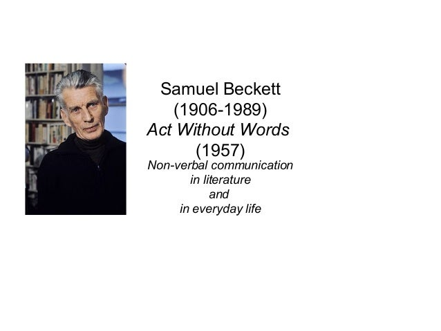 Beckett act without words