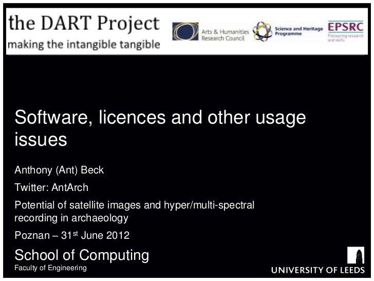 Software, Licences etc