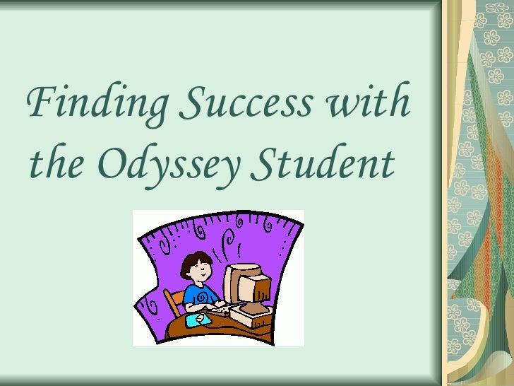 Becky Wittig  Finding Success With The Odyssey Student