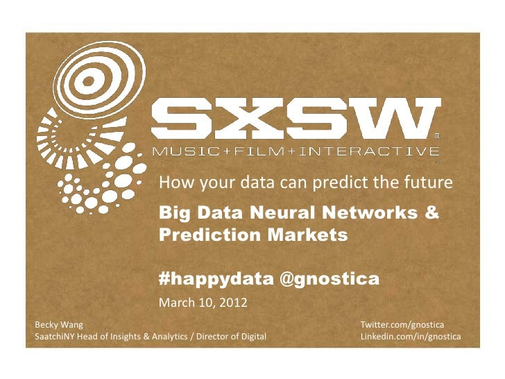 How Your Data Can Predict The Future