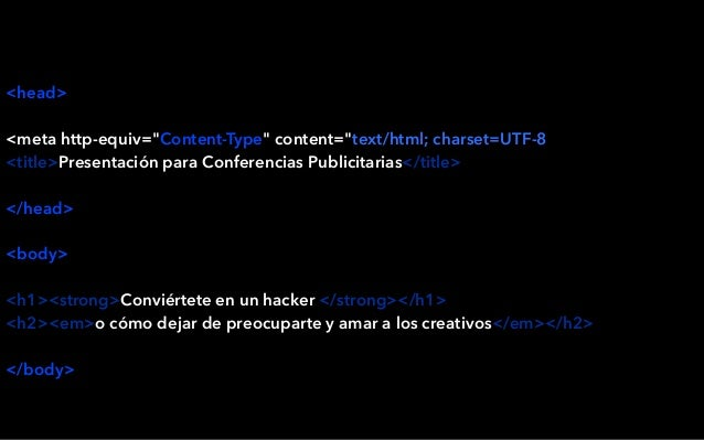 "<head> <meta http-equiv=""Content-Type"" content=""text/html; charset=UTF-8"" /> <title>Presentación para Conferencias Publici..."