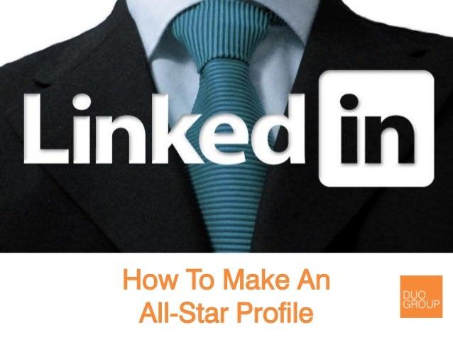Become a LinkedIn All-Star