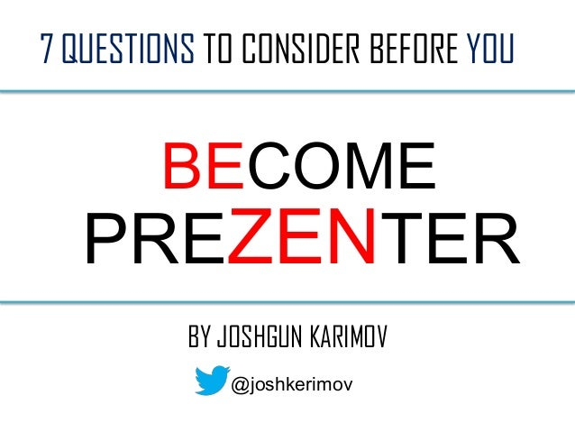 How to become a presenter?