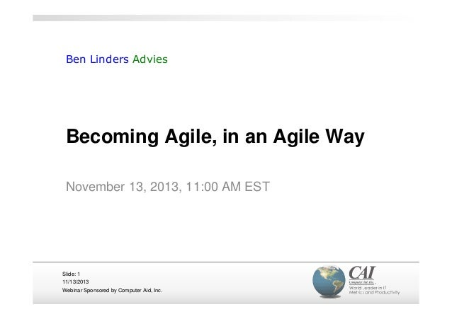 Becoming agile in an agile way - ITMPI webinar by Ben Linders