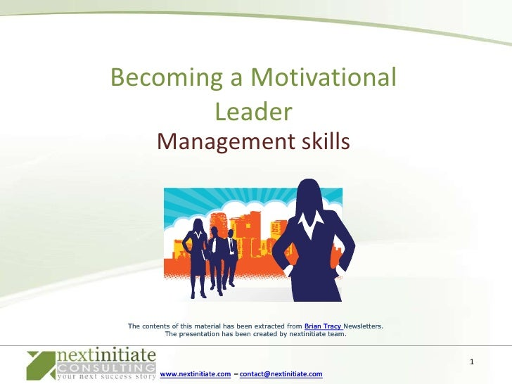 Becoming A Motivational Leader