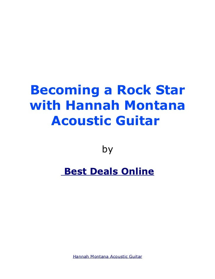 Becoming a Rock Starwith Hannah Montana   Acoustic Guitar                 by    Best Deals Online     Hannah Montana Acous...