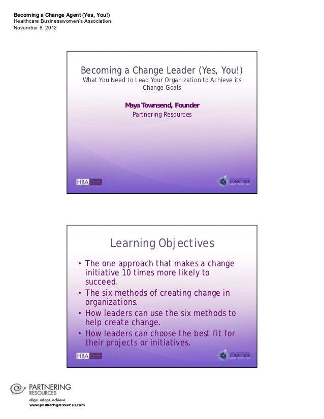 Becoming Change Leader 2012