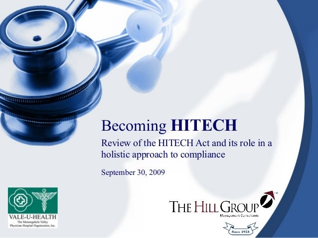 Becoming HITECH - 9/2009
