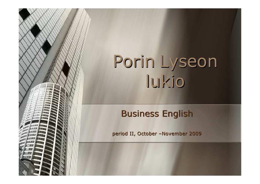 Business English course intro
