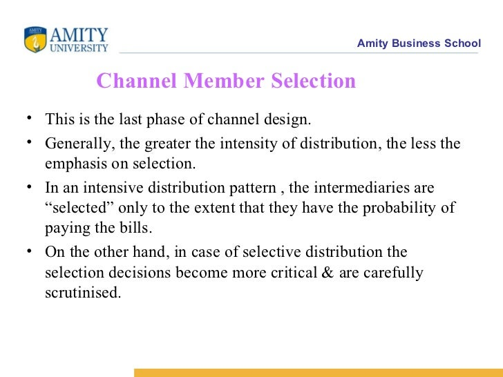 Selection of channel partners
