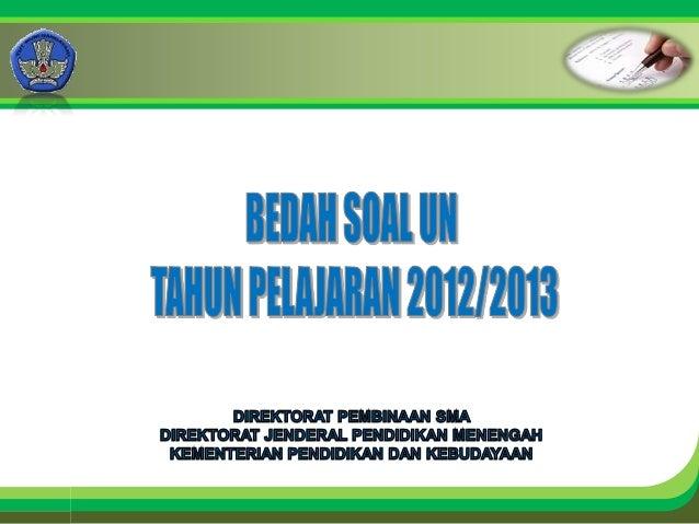 Bedah soal un 2012