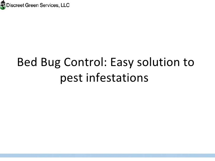 Bed bug control easy solution to pest infestations