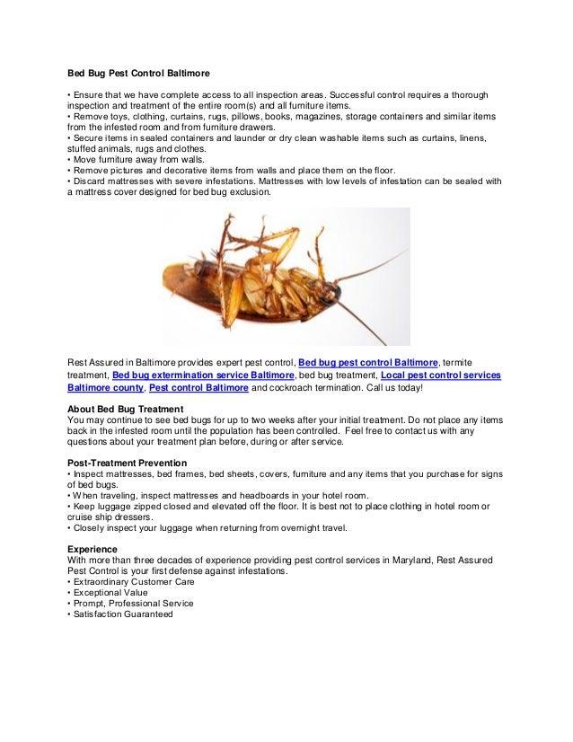 Bed Bug Pest Control Boston